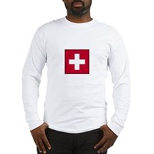 Swiss Flag - Switzerland Long Sleeve T-Shirt