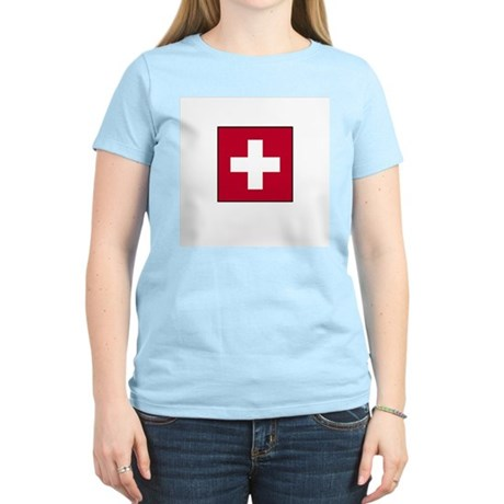 Swiss Flag - Switzerland Women's Pink T-Shirt