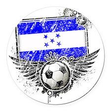 Soccer fan Honduras Round Car Magnet