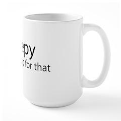 iSleepy-transp-blk Large Mug