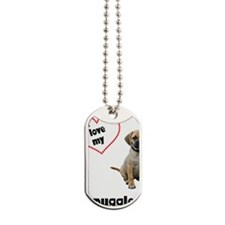 FIN-puggle-love-CROP Dog Tags