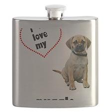 FIN-puggle-love-CROP Flask