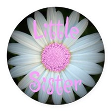 Little Sister Round Car Magnet
