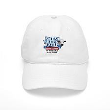 British White Baseball Cap