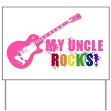 Pink Guitar_Uncle Yard Sign