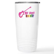 Pink Guitar_Aunt Travel Mug
