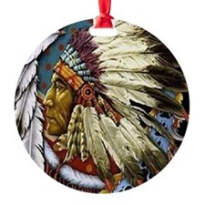 CHIEF WHITE CLOUD Ornament