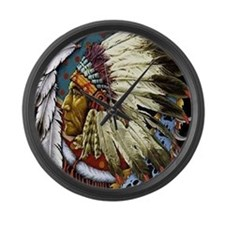 CHIEF WHITE CLOUD Large Wall Clock