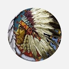 CHIEF WHITE CLOUD Round Ornament