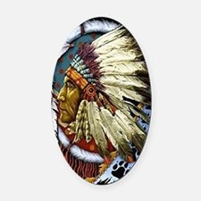 CHIEF WHITE CLOUD Oval Car Magnet