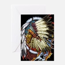 CHIEF WHITE CLOUD Greeting Card