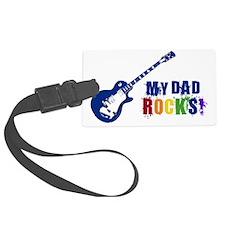 Blue Guitar_Dad Luggage Tag