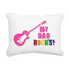 Pink Guitar_Dad Rectangular Canvas Pillow