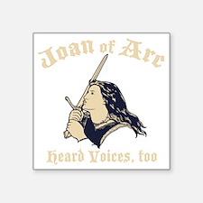 """Joan-arc-voices-DKT Square Sticker 3"""" x 3"""""""