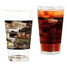 Traveling_Doberman_London_Awaits_Ro Drinking Glass