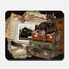 Traveling_Doberman_Rocky_SQ Mousepad
