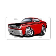 1970-74 Duster 340 Red Car Aluminum License Plate