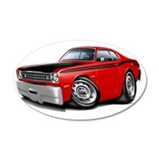1970-74 Duster 340 Red Car Wall Decal
