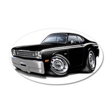 1970-74 Duster 340 Black Car Wall Decal
