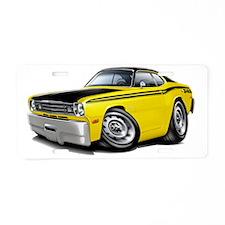 1970-74 Duster 340 Yellow-B Aluminum License Plate