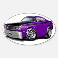 1970-74 Duster 340 Purple-Black Car Decal