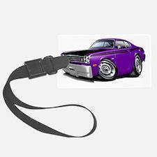 1970-74 Duster 340 Purple-Black  Luggage Tag