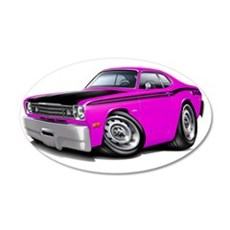 1970-74 Duster 340 Pink-Blac Wall Decal