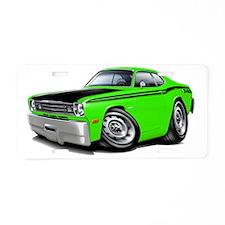 1970-74 Duster 340 Lime-Bla Aluminum License Plate