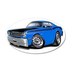 1970-74 Duster 340 Blue-Blac Wall Decal