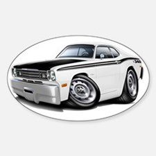 1970-74 Duster 340 White-Black Car Decal