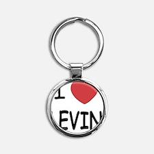 LEVIN01 Round Keychain