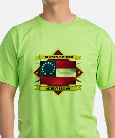 7th Tennessee Infantry (Flag 5.1) T-Shirt