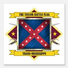 "Taylor Battle Flagl (Fla Square Car Magnet 3"" x 3"""