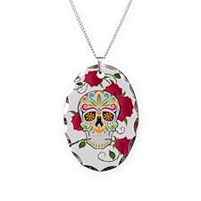 Rose Sugar Skull Necklace