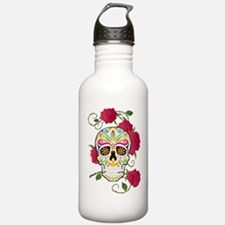 Rose Sugar Skull Water Bottle