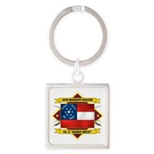 10th Miss -Rankin Rifles (Flag 5.2 Square Keychain