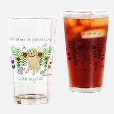 2-LabYellow Drinking Glass