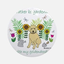 2-Goldendoodle Round Ornament