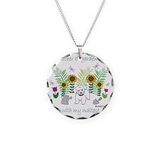 2-Maltese Necklace Circle Charm