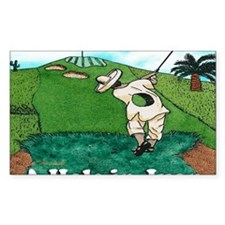A HOLE IN JUAN greeting card Decal