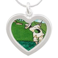 A HOLE IN JUAN mouse pad Silver Heart Necklace