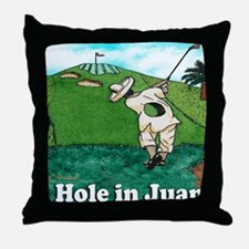 A HOLE IN JUAN mouse pad Throw Pillow