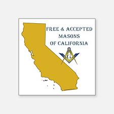 """CALIFORNIA FAM Square Sticker 3"""" x 3"""""""