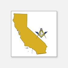 """CALIFORNIA FAMBLK Square Sticker 3"""" x 3"""""""