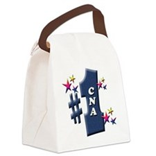 number 1 cna Canvas Lunch Bag