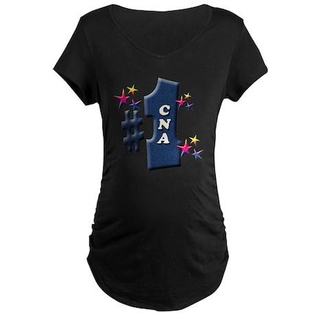 number 1 cna Maternity Dark T-Shirt