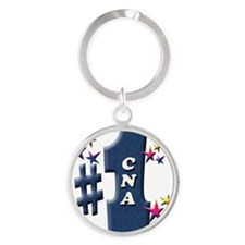 number 1 cna Round Keychain