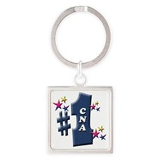 number 1 cna Square Keychain