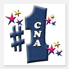 """number 1 cna Square Car Magnet 3"""" x 3"""""""