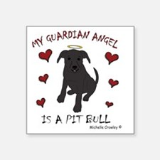 "PitBullBlk Square Sticker 3"" x 3"""